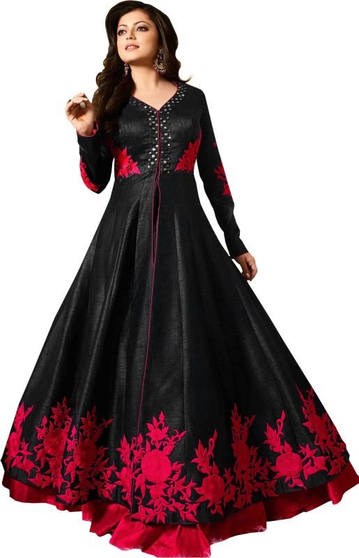 Anjani Creation Georgette Embroidered Salwar Suit Dupatta & Waistcoat Material, Salwar Suit...