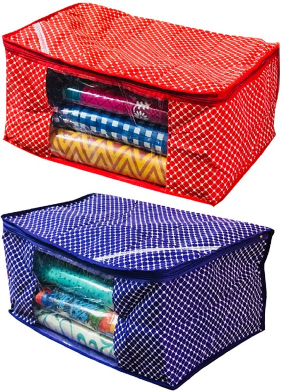 Kuber Industries Designer Cotton Quilted Polka Dots Saree Cover PolkaNSC023(Multicolor)