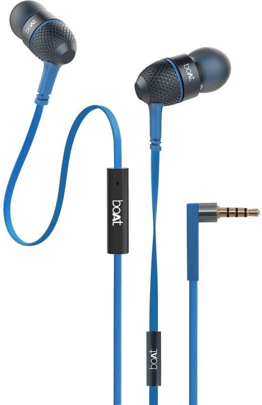 boAt BassHeads 225 Wired Headset with Mic(Blue, In the Ear)