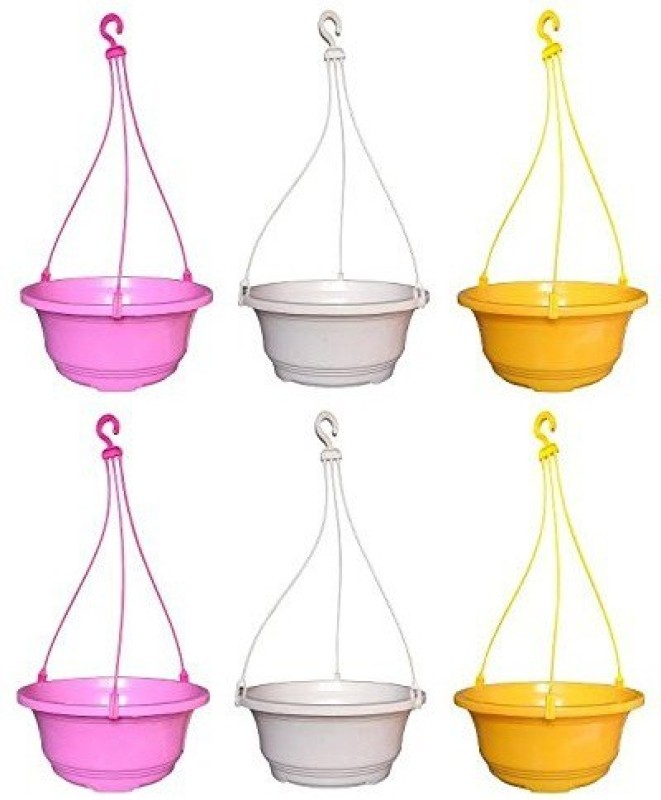 Truphe Ivy Garden Hanging Pot Planters, Plant Container (set of 6) -...