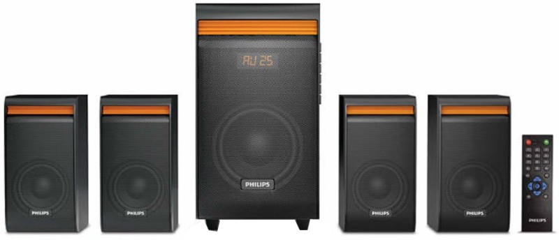 Philips SPA8140B/94 50 W Bluetooth Home Audio Speaker(Black, 4.1 Channel)
