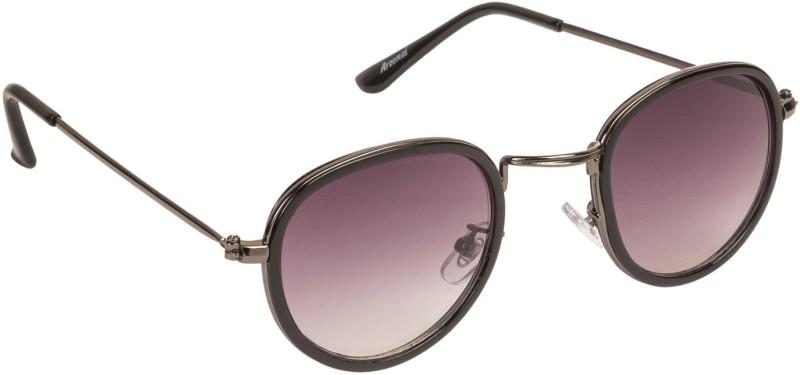 Arzonai Round Sunglasses(Black) image