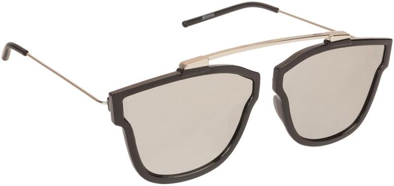 Arzonai Retro Square Sunglasses(Silver) image