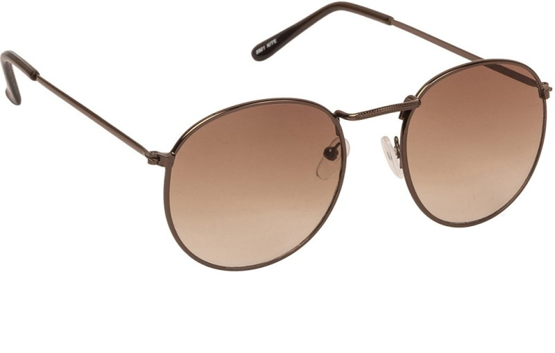 Arzonai Round Sunglasses(Brown) image