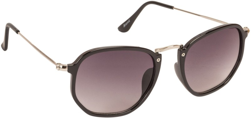 Arzonai Retro Square Sunglasses(Black) image