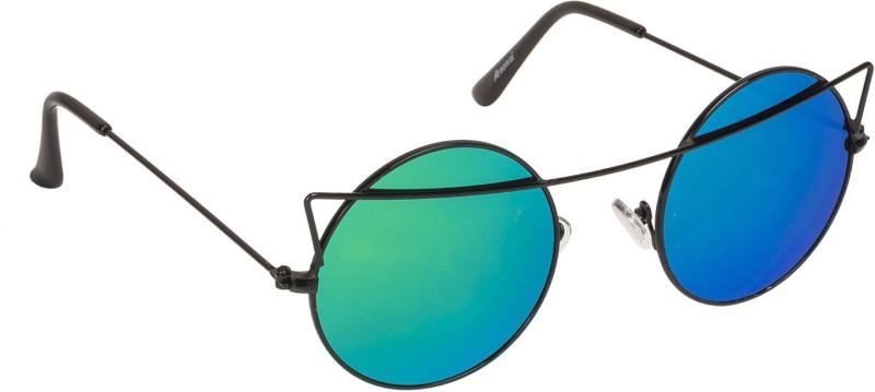 Arzonai Round Sunglasses(Green) image