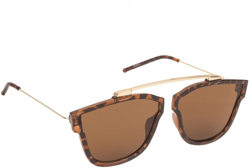 Arzonai Retro Square Sunglasses(Brown) image