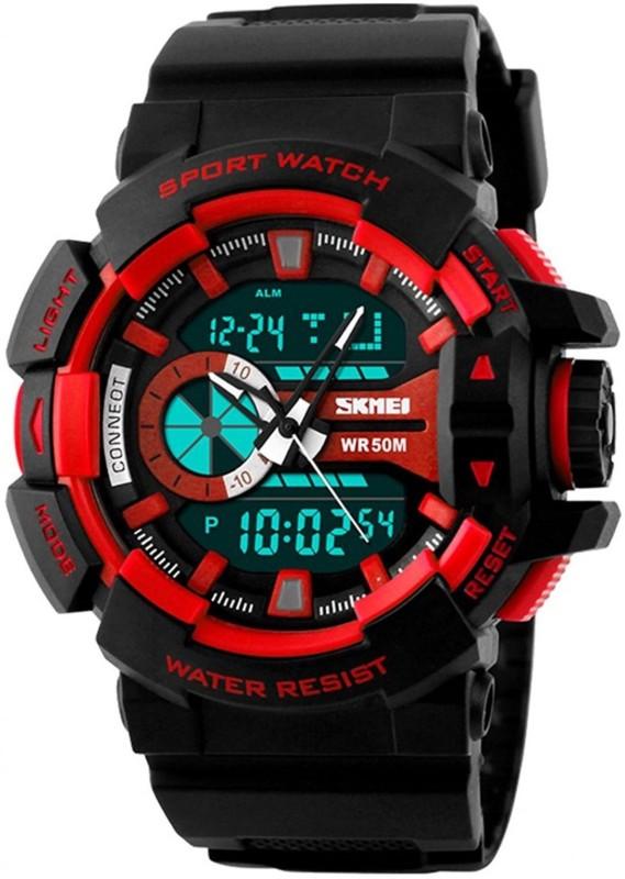 Skmei Lo-Digi-VI-Red Men's Watch image