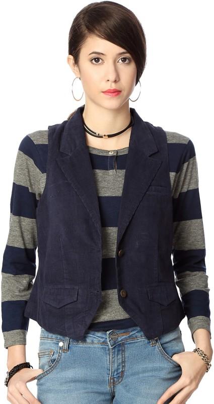 People Sleeveless Solid Women Jacket