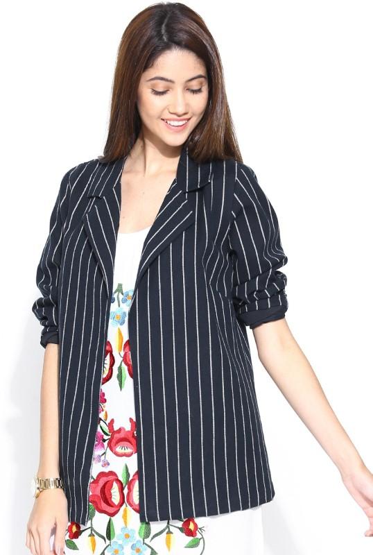 Vaak Full Sleeve Striped Women Jacket
