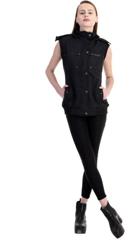 Zupe Sleeveless Self Design Women Jacket