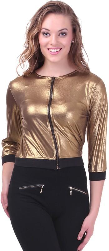 Sassafras 3/4 Sleeve Solid Women Jacket