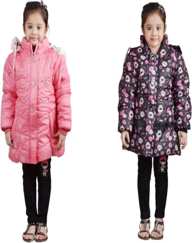 Crazeis Full Sleeve Solid Girls Jacket