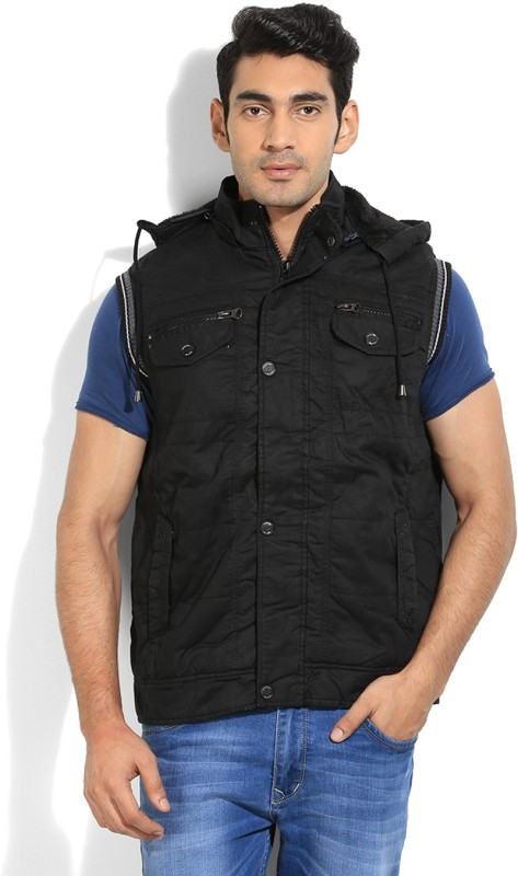 Fort Collins Sleeveless Solid Mens Bomber Jacket Jacket