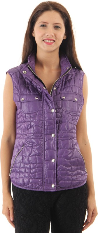 Just In Time Sleeveless Solid Women Jacket