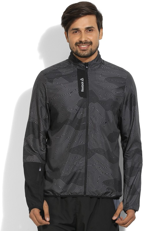 REEBOK Full Sleeve Printed Mens Sports Jacket