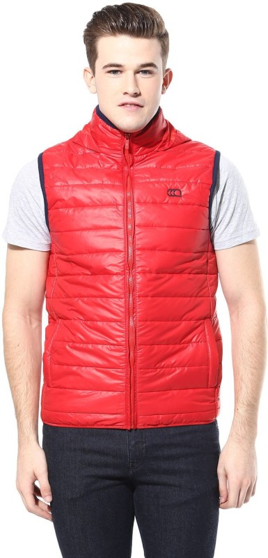 Ajile by Pantaloons Sleeveless Solid Mens Quilted Jacket