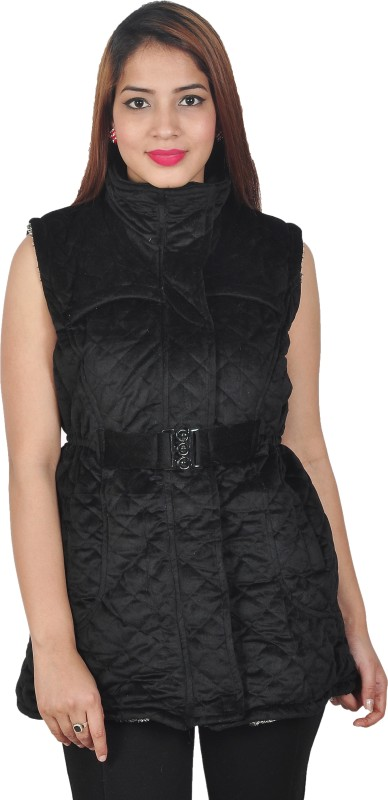 Nifty Sleeveless Self Design Women Jacket