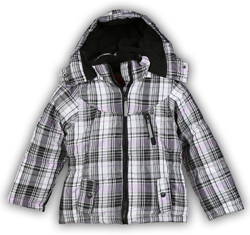 Lilliput Full Sleeve Checkered Girls Jacket