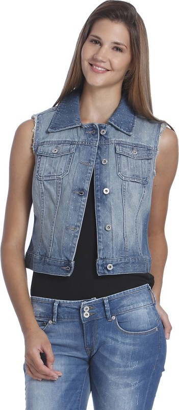 Only Sleeveless Solid Womens Jacket