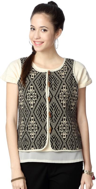People Sleeveless Printed Women Jacket