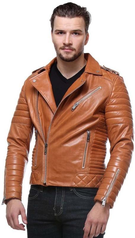Bare Skin Full Sleeve Self Design Mens Jacket
