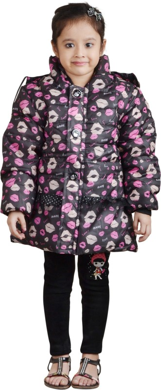 Crazeis Full Sleeve Printed Girls Jacket