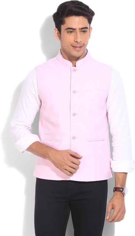 United Colors of Benetton. Sleeveless Solid Men's Nehru Jacket
