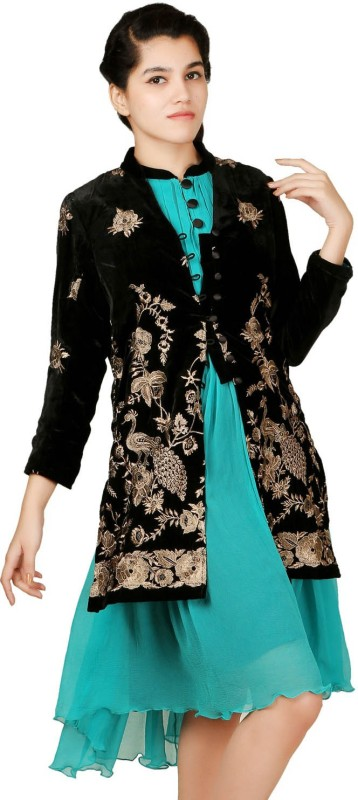 VR Designers 3/4 Sleeve Embroidered Women Jacket