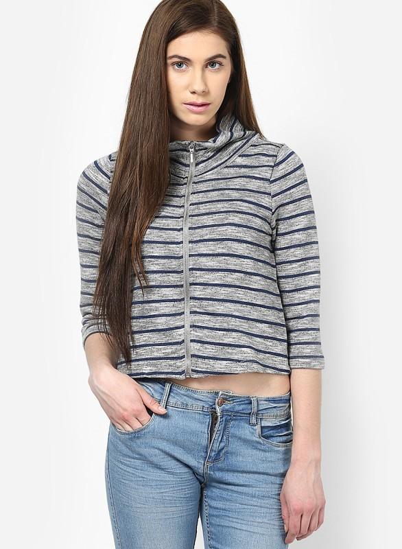 Only Full Sleeve Striped Women Jacket