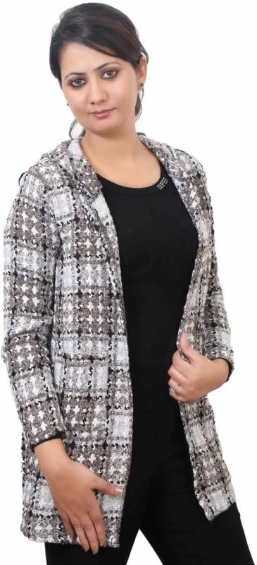 Lady Heart Full Sleeve Checkered Women Jacket