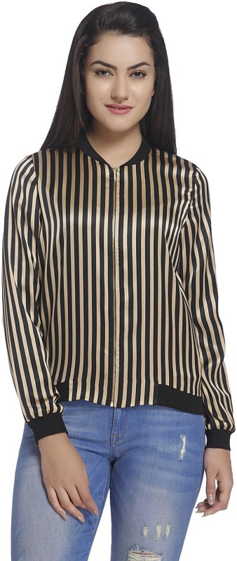 Only Full Sleeve Striped Womens Jacket