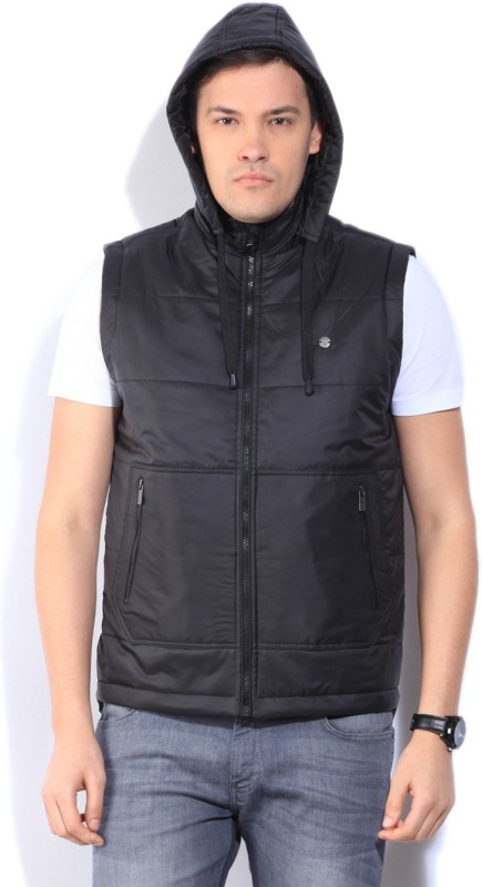 Peter England Sleeveless Solid Mens Jacket
