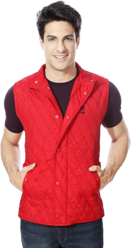 Van Heusen Sleeveless Solid Mens Quilted Jacket
