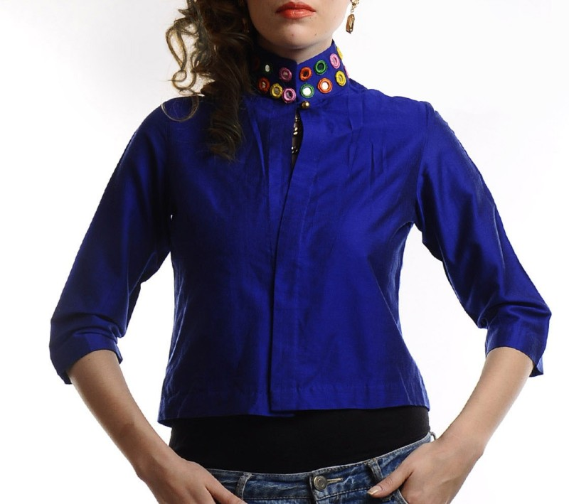Ans Astha And Sidharth Half Sleeve Solid Women Jacket