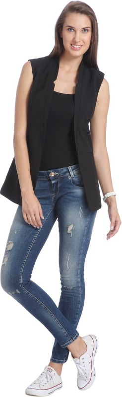 Only Sleeveless Solid Women's Casual  Jacket