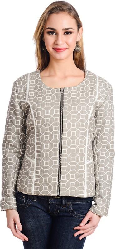 Trend Arrest Full Sleeve Geometric Print Women Jacket