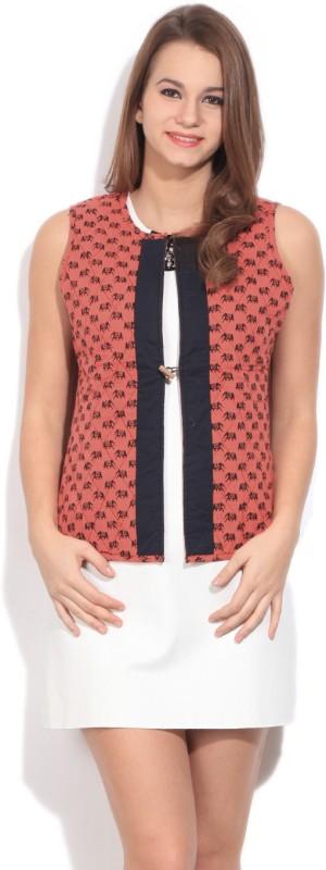 Karigari Sleeveless Printed Women Quilted Jacket