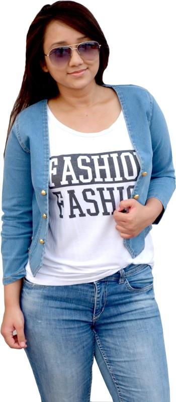 Aarti Collections Solid Women Denim Jacket