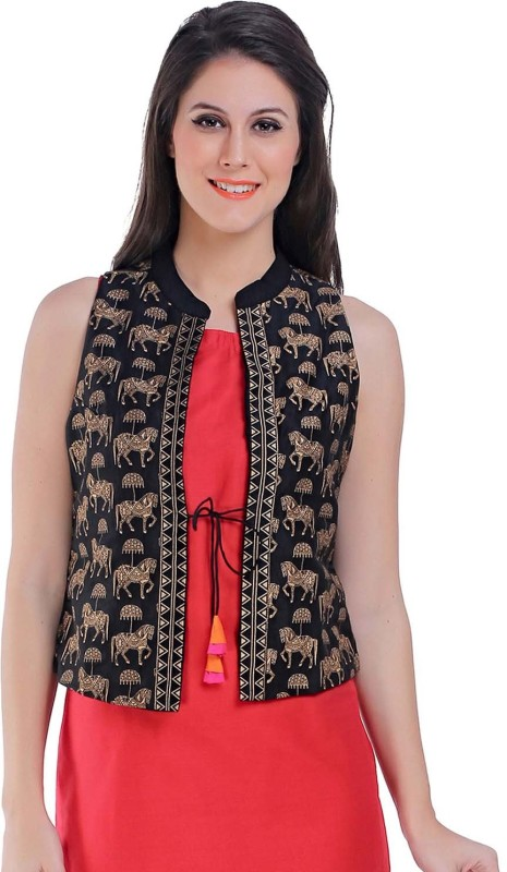 FUNK FOR HIRE Sleeveless Printed Women Jacket