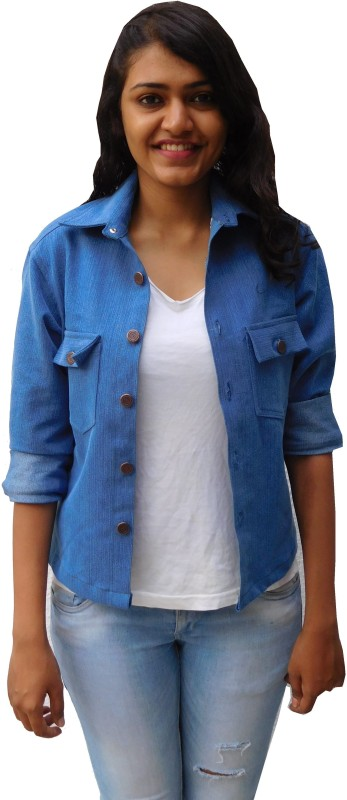 Oshin Full Sleeve Solid Women Denim Jacket