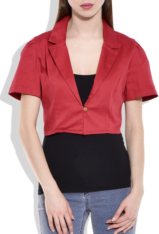 Eves Pret A Porter Half Sleeve Solid Women Jacket