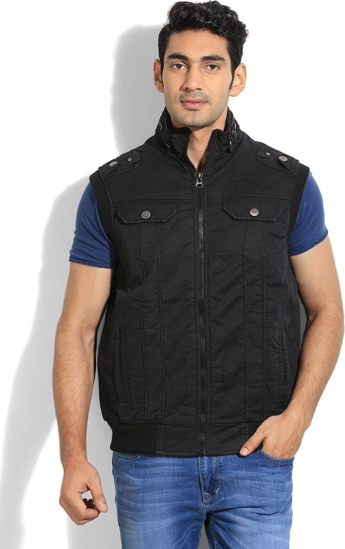 Fort Collins Sleeveless Solid Mens Casual Jacket Jacket