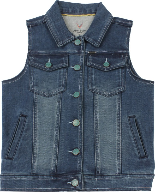 Allen Solly Junior Sleeveless Solid Boys Top Jacket