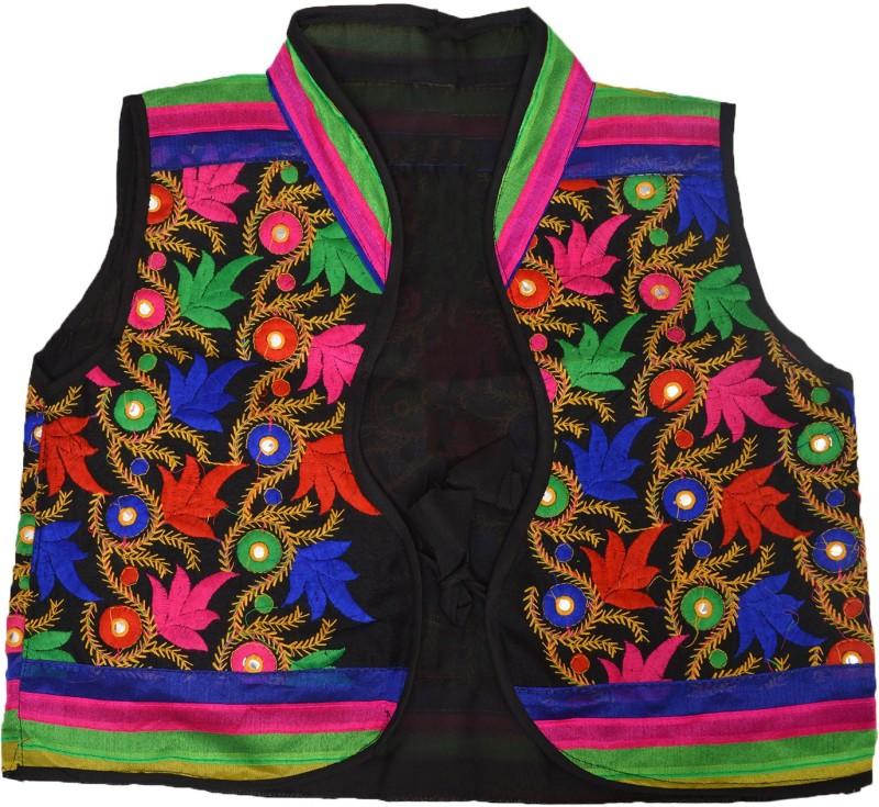 Crux & Hunter Sleeveless Embroidered Women Jacket