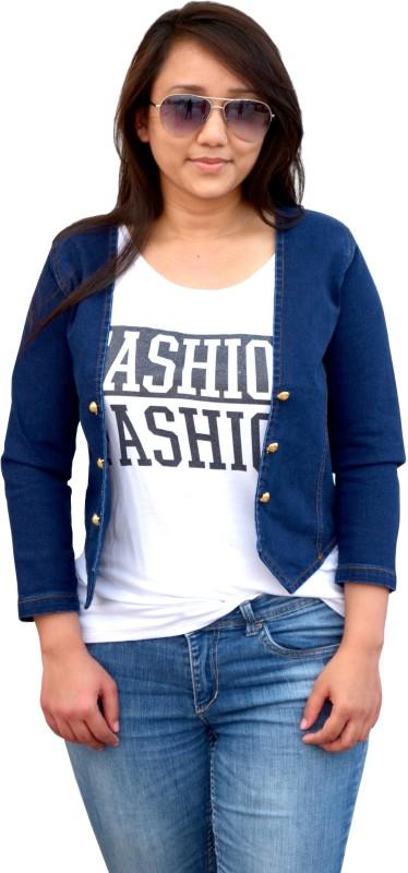 Aarti Collections Self Design Women Denim Jacket