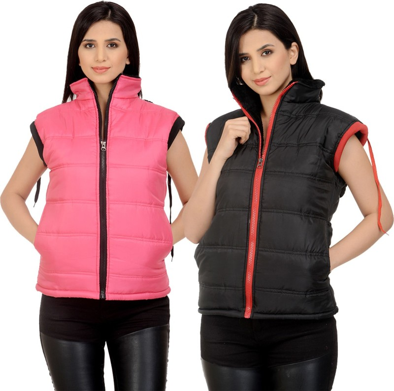 Candy House Sleeveless Solid Women Jacket