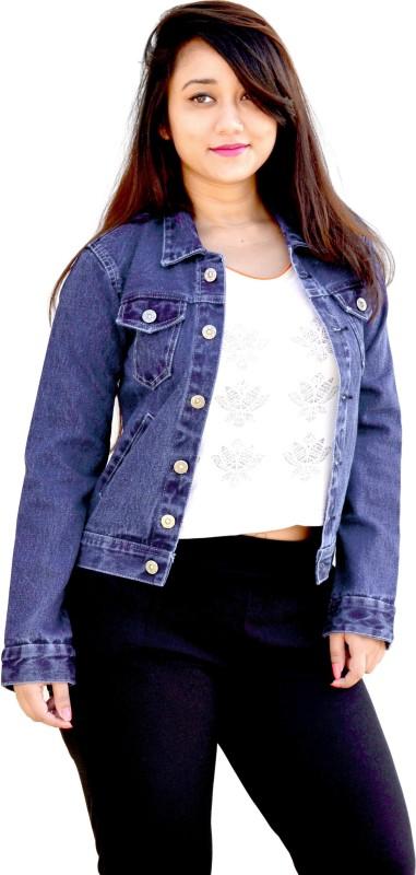 Aarti Collections Full Sleeve Self Design Women Denim Jacket