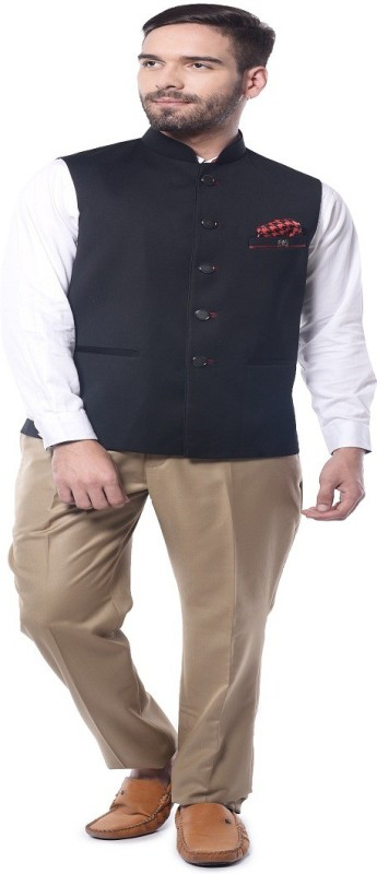 Mohanlal Sons Sleeveless Self Design Mens Jacket