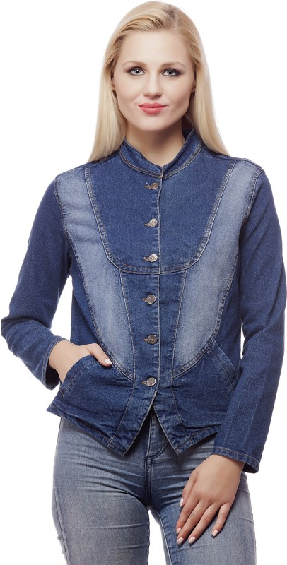 99 Affair Full Sleeve Self Design Women Denim Jacket